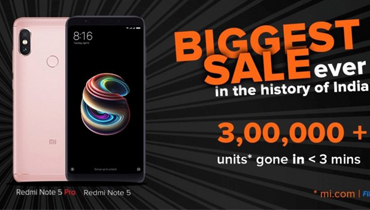 فروش بالای گوشی شیائومی Redmi Note 5 Pro در عرض چند ثانیه
