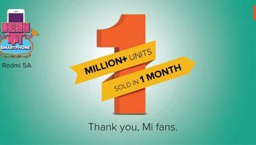 فروش بیش از  یک میلیون Redmi 5A در هند