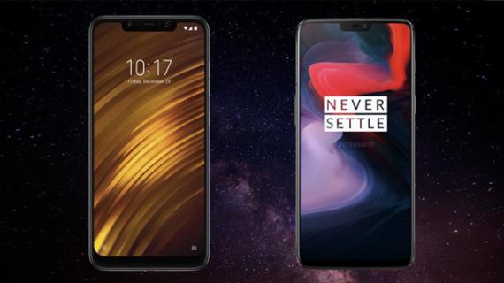 بررسی و مقایسه گوشی های Pocophone F1 و One Plus 6