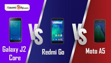 مقایسه و بررسی گوشی های Galaxy J2 Core، Redmi Go و Moto E5