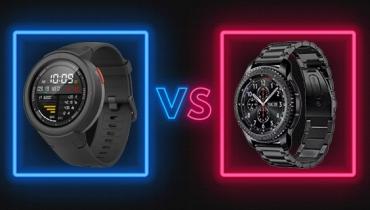 مقایسه و بررسی ساعت هوشمند Gear 3S سامسونگ و آمازفیت VERGE شیائومی